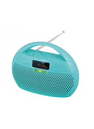 RADIO STEREO LETTORE MP3 BLUETOOTH USB MICRO SD INGRESSO AUX TREVI KBB308 VERDE
