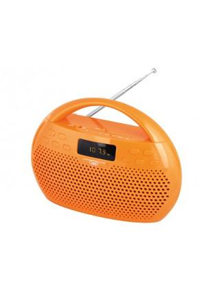 RADIO STEREO LETTORE MP3 BLUETOOTH USB MICRO SD INGRESSO AUX TREVI ARANCIONE NEW