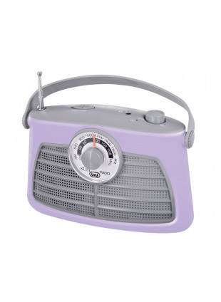 Radio portatile Am/Fm In Vintage Speaker Presa cuffia Trevi 210x140x80mm Viola