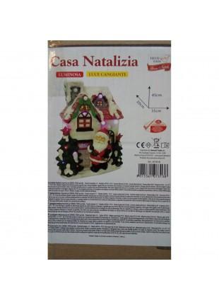 Casetta Natalizia Casa Neve Innevata Addobbi Natalizi Festa Idee Regalo 45cm