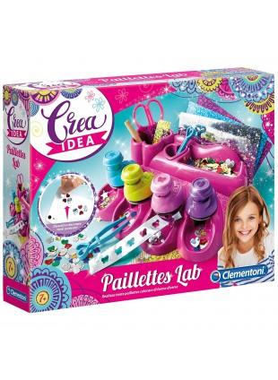 Laboratorio Paillettes Creare Bambina Creatività Manualità Giochi Colorati