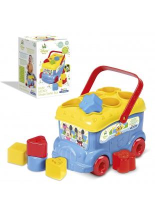 Autobus Topolino Primi Giochi Incastra Formine Colorate Mickey Infanzia Disney