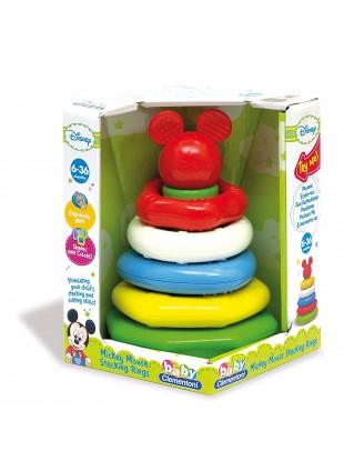 Anelli Impilabili Cerchi Topolino Primi Giochi Infanzia Mickey Disney Colorato