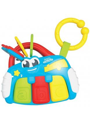 Sonaglino Elettronico Baby Piano 3 Tasti Grandi Melodie Prime Lettere