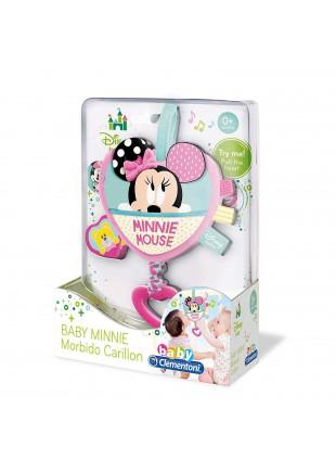 Carillon Morbido Baby Minnie Topolina Rosa con fascia in Velcro Rosa