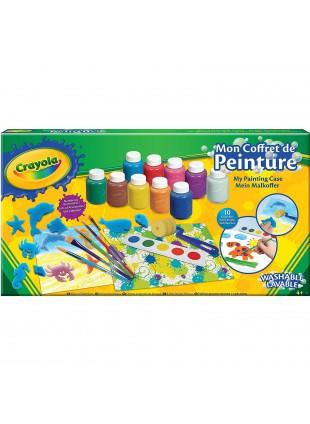 Valigetta Colori Crayola Pennelli Tavolozze Spugne Colorare Pitturare Dipingere