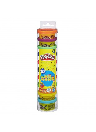 10 Barattoli di Pasta da Modellare Colorata Fantasia Creatività Play-Doh