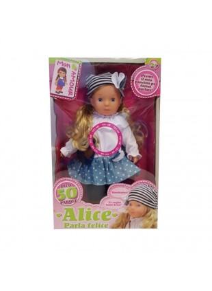 Bambola Alice Mon Amour Parla 50 Parole 46 cm Bionda Giochi