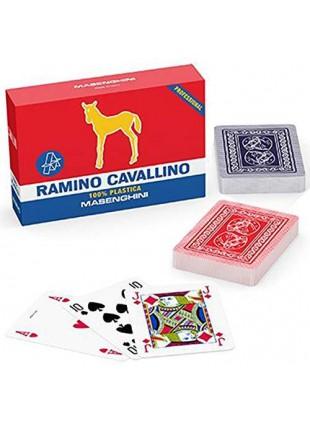 Masenghini Carte Gioco Plastica Scala Quaranta Plastificate Poker Macchiavelli