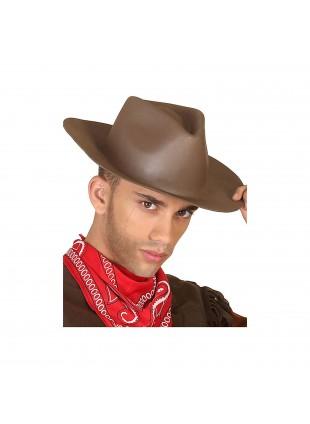 Cappello Sombrero da Cowboy Marrone Western Uomo Per Adulti Festa Atosa 34791
