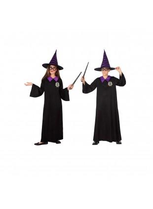 Costume Vestito Di Carnevale Da Mago Per Bambini Bambine 7-9 Anni Atosa 56930