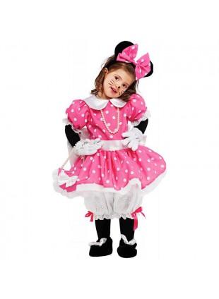 Costume Vestito Di Carnevale Topolina Topoletta Minnie Lusso Per Neonata 53159