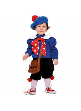 Costume Vestito Di Carnevale Pierino Neonato Per Bambino Taglia 1 Anno 50688