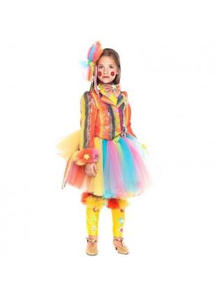 Vestito Costume Di Carnevale Pagliaccetta Prestige Neonata Taglia 4 Anni 28036