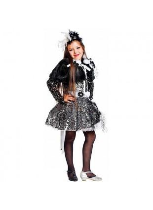 Costume Vestito Di Carnevale Lady Crudelia Baby Per Bambina Taglia 4 Anni 50595