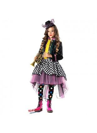 Costume Vestito di Carnevale Artista Di Strada Taglia 5 Anni Bimba Bambina 51137