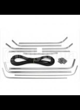 Serie strisce pedana complete di gomma, puntalini e ribattini - Vespa P125X - P1