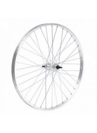 Ruota anteriore bicicletta bici 26 x 196 cerchio alluminio mozzo acciaio + dadi