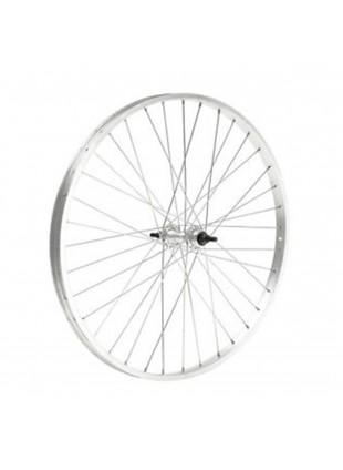 Cerchio ruota posteriore bici city bike 28 x 1-5/8 alluminio mozzo acciaio dadi