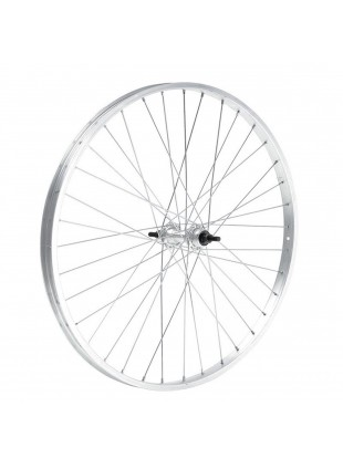 Ruota cerchio anteriore bici touring mtb 20 x 1,75 alluminio mozzo acciaio +dadi