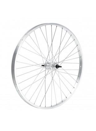 Ruota cerchio anteriore bicicletta touring mtb 24 x 1,75 alluminio mozzo acciaio