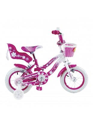 bici bicicletta per bimba bambina Butterfly Flower 16 modello olanda con cestino