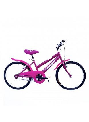 Bici bicicletta bambina bimba rosa telaio acciaio ruote 20 cavalletto alluminio