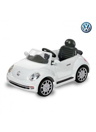 macchina elettrica bambino/bambina Maggiolino Bianco 6W
