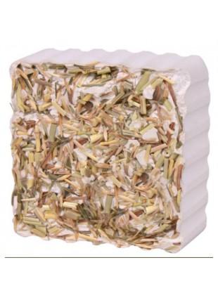 Pietra da rosicare con erbe di campo per conigli,criceti,porcellini d'india 80gr