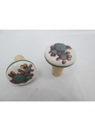 tappo in ceramica e sughero con ficod'india