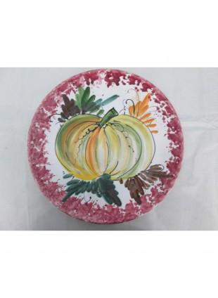 piatto in ceramica di caltagirone decorato a mano  pezzo unico
