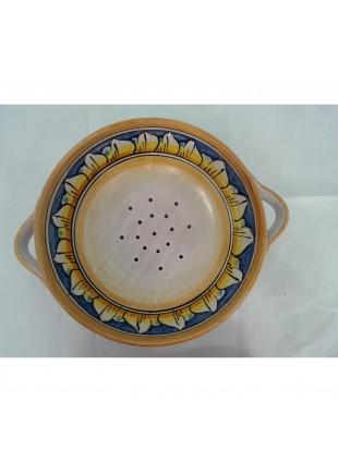 cola frutta o cola spaghetti co manici in ceramica di Caltagirone