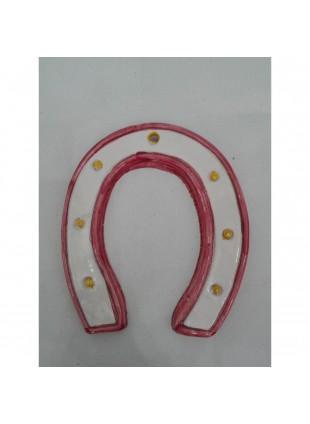 ferro di cavallo in ceramica di Caltagirone decorato a mano