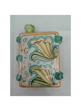 scaldamani in ceramica di Caltagirone decorato a mano pezzo unico