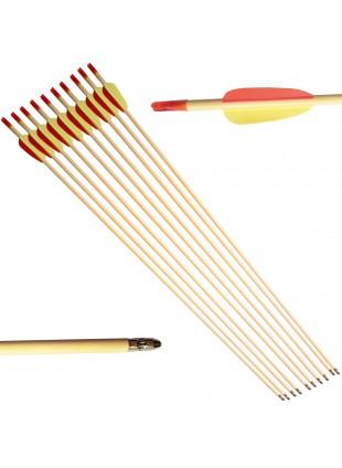 10 Frecce Freccia Arco Tiro a Bersaglio in Legno Archi 28 Pollici Punta Fissa