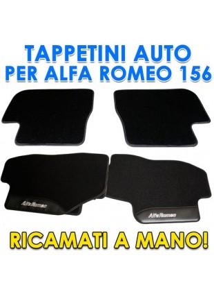 SET 4PZ TAPPETI TAPPETINI TAPPETINO PER AUTO MOQUETTE ALFA ROMEO 156 SU MISURA