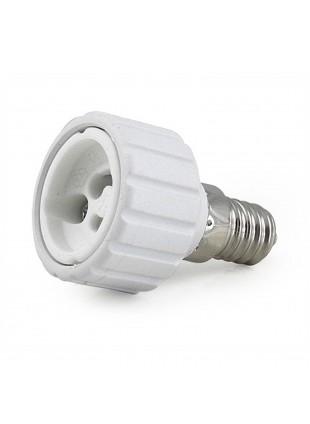 Riduzione Adattatore Convertitore Porta Lampada Lampadina LED Da E14 A GU10 LIFE