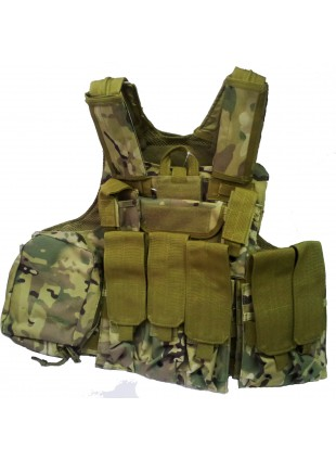 GILET GIUBBOTTO CORPETTO TATTICO VERDE MILITARE MULTICAM PER SOFTAIR TACTICAL