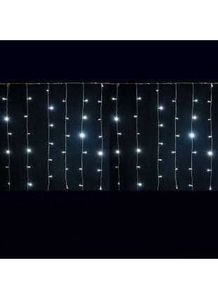 Tenda Luminosa 2 Metri 180 Led Luci Addobbi di Natale Luce Fredda