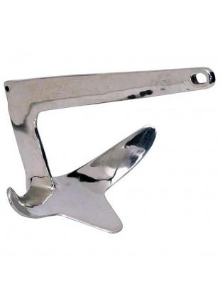 Ancora Tipo Bruce Navigazione Acciaio 15 kg Nautica Ancoraggio Lucida a Specchio