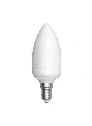 Lampadina Lampada Attacco E14 LED LIGHT 5W SMD Oliva Luce Bianca Calda 450 Lumen