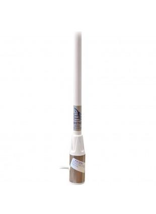 Antenna barche VHF SuperSteel mt.1,5  bianca nautica resistente temperature