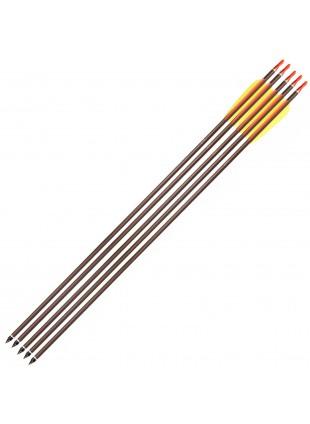 5 Frecce 30 Pollici in Alluminio Freccia per Arco Tiro Bersaglio 8mm