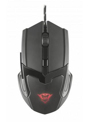 Mouse Trust Gaming Nero con Logo Luminoso 6 Tasti Comodo Ergonomico