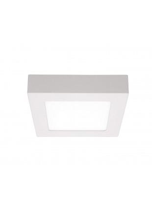 Plafoniera a Led 18 W Luce Bianca Calda 3000 K 1310 Lm Quadra Alluminio Moderna