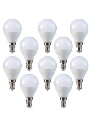 10 Pezzi Lampadine a led V-Tac E14 Potenza 4W Luce Bianca Calda 2700 K 320 Lm