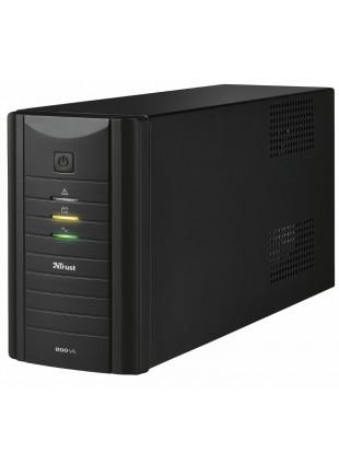 Gruppo di Continuità Ups 800 VA Trust 2 Cavi di Collegamento Protezione Computer