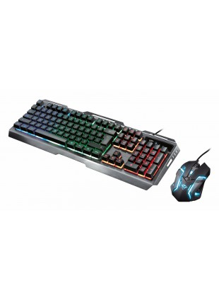 Kit Tastiera e Mouse Trust Gaming Da Gioco con Led Colorati Luminosi GXT845