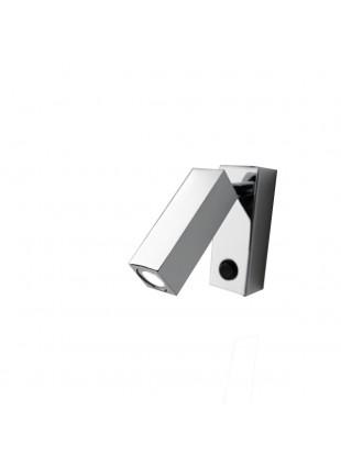 Applique Plafoniera Parete a Specchio Cromata Luce Calda Metallo Illuminazione