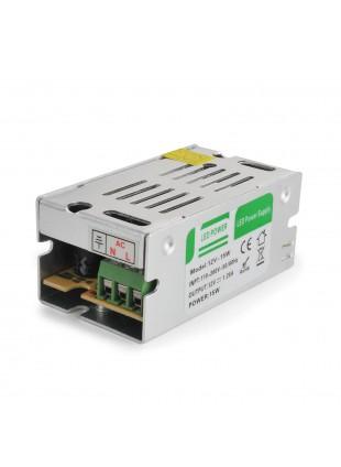 Alimentaore Trasformatore Striscia LED 12v Stabilizzato Power Supply 15 W 1.3A
